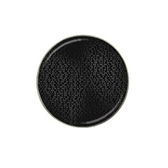 Gray Plaid Black Hat Clip Ball Marker (4 Pack) by Mariart