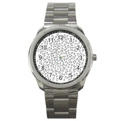 Heart Doddle Sport Metal Watch by Mariart