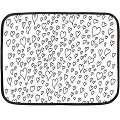 Heart Doddle Double Sided Fleece Blanket (mini)  by Mariart