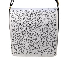 Heart Doddle Flap Messenger Bag (l)  by Mariart
