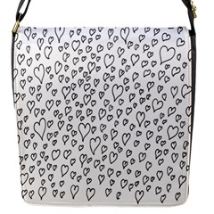 Heart Doddle Flap Messenger Bag (s) by Mariart