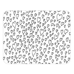 Heart Doddle Double Sided Flano Blanket (large)  by Mariart