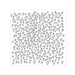 Heart Doddle Small Satin Scarf (square) by Mariart