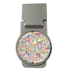 Circle Rainbow Polka Dots Money Clips (round)  by Mariart