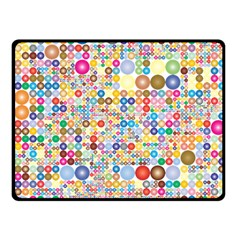 Circle Rainbow Polka Dots Fleece Blanket (small) by Mariart