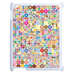 Circle Rainbow Polka Dots Apple Ipad 2 Case (white) by Mariart