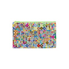 Circle Rainbow Polka Dots Cosmetic Bag (xs) by Mariart