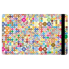 Circle Rainbow Polka Dots Apple Ipad Pro 12 9   Flip Case by Mariart