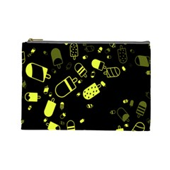 Ice Cream Cool Yellow Cosmetic Bag (large)  by Mariart