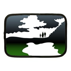 Landscape Silhouette Clipart Kid Abstract Family Natural Green White Netbook Case (medium)  by Mariart