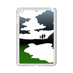 Landscape Silhouette Clipart Kid Abstract Family Natural Green White Ipad Mini 2 Enamel Coated Cases by Mariart