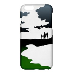 Landscape Silhouette Clipart Kid Abstract Family Natural Green White Apple Iphone 6 Plus/6s Plus Hardshell Case