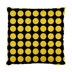 Circles1 Black Marble & Yellow Colored Pencil (r) Standard Cushion Case (one Side) by trendistuff