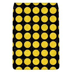 Circles1 Black Marble & Yellow Colored Pencil (r) Flap Covers (l)  by trendistuff