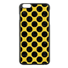 Circles2 Black Marble & Yellow Colored Pencil Apple Iphone 6 Plus/6s Plus Black Enamel Case by trendistuff