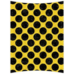 Circles2 Black Marble & Yellow Colored Pencil Back Support Cushion