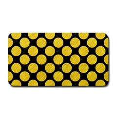 Circles2 Black Marble & Yellow Colored Pencil (r) Medium Bar Mats by trendistuff