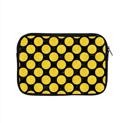 Circles2 Black Marble & Yellow Colored Pencil (r) Apple Macbook Pro 15  Zipper Case by trendistuff