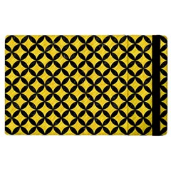 Circles3 Black Marble & Yellow Colored Pencil Apple Ipad 2 Flip Case by trendistuff