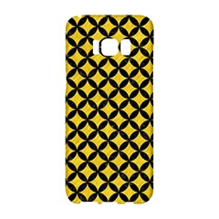 Circles3 Black Marble & Yellow Colored Pencil Samsung Galaxy S8 Hardshell Case