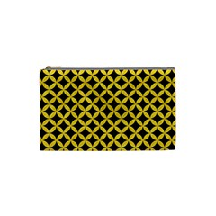 Circles3 Black Marble & Yellow Colored Pencil (r) Cosmetic Bag (small)  by trendistuff