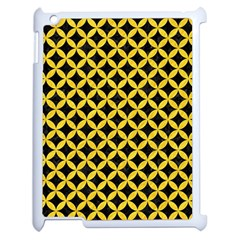 Circles3 Black Marble & Yellow Colored Pencil (r) Apple Ipad 2 Case (white)