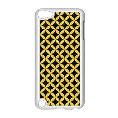 Circles3 Black Marble & Yellow Colored Pencil (r) Apple Ipod Touch 5 Case (white) by trendistuff