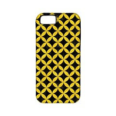 Circles3 Black Marble & Yellow Colored Pencil (r) Apple Iphone 5 Classic Hardshell Case (pc+silicone) by trendistuff