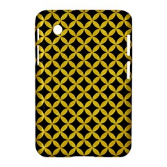 Circles3 Black Marble & Yellow Colored Pencil (r) Samsung Galaxy Tab 2 (7 ) P3100 Hardshell Case  by trendistuff