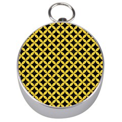 Circles3 Black Marble & Yellow Colored Pencil (r) Silver Compasses by trendistuff