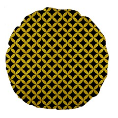 Circles3 Black Marble & Yellow Colored Pencil (r) Large 18  Premium Flano Round Cushions by trendistuff