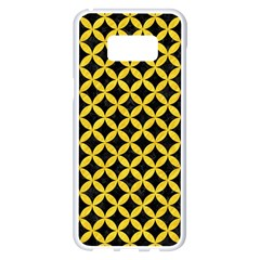 Circles3 Black Marble & Yellow Colored Pencil (r) Samsung Galaxy S8 Plus White Seamless Case