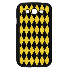 Diamond1 Black Marble & Yellow Colored Pencil Samsung Galaxy Grand Duos I9082 Case (black) by trendistuff