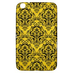 Damask1 Black Marble & Yellow Colored Pencil Samsung Galaxy Tab 3 (8 ) T3100 Hardshell Case  by trendistuff