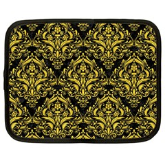 Damask1 Black Marble & Yellow Colored Pencil (r) Netbook Case (xxl)  by trendistuff