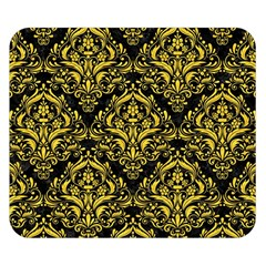 Damask1 Black Marble & Yellow Colored Pencil (r) Double Sided Flano Blanket (small)  by trendistuff