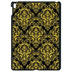 Damask1 Black Marble & Yellow Colored Pencil (r) Apple Ipad Pro 9 7   Black Seamless Case by trendistuff