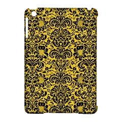 Damask2 Black Marble & Yellow Colored Pencil Apple Ipad Mini Hardshell Case (compatible With Smart Cover) by trendistuff