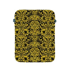 Damask2 Black Marble & Yellow Colored Pencil (r) Apple Ipad 2/3/4 Protective Soft Cases by trendistuff