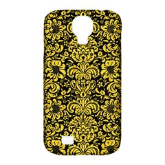 Damask2 Black Marble & Yellow Colored Pencil (r) Samsung Galaxy S4 Classic Hardshell Case (pc+silicone) by trendistuff