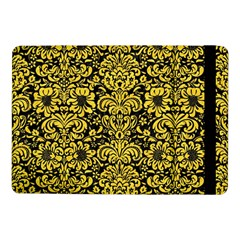 Damask2 Black Marble & Yellow Colored Pencil (r) Samsung Galaxy Tab Pro 10 1  Flip Case by trendistuff