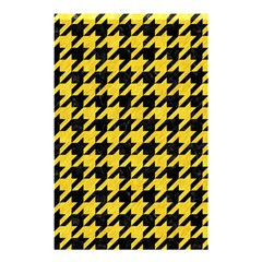 Houndstooth1 Black Marble & Yellow Colored Pencil Shower Curtain 48  X 72  (small)  by trendistuff