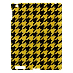 Houndstooth1 Black Marble & Yellow Colored Pencil Apple Ipad 3/4 Hardshell Case by trendistuff