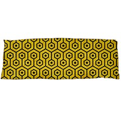 Hexagon1 Black Marble & Yellow Colored Pencil Body Pillow Case Dakimakura (two Sides) by trendistuff