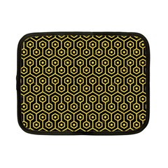 Hexagon1 Black Marble & Yellow Colored Pencil (r) Netbook Case (small)  by trendistuff