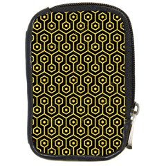 Hexagon1 Black Marble & Yellow Colored Pencil (r) Compact Camera Cases by trendistuff