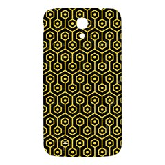 Hexagon1 Black Marble & Yellow Colored Pencil (r) Samsung Galaxy Mega I9200 Hardshell Back Case by trendistuff