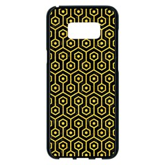 Hexagon1 Black Marble & Yellow Colored Pencil (r) Samsung Galaxy S8 Plus Black Seamless Case