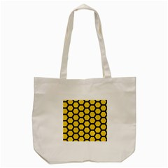 Hexagon2 Black Marble & Yellow Colored Pencil Tote Bag (cream) by trendistuff