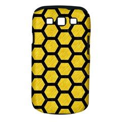 Hexagon2 Black Marble & Yellow Colored Pencil Samsung Galaxy S Iii Classic Hardshell Case (pc+silicone) by trendistuff